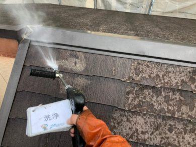 奈良奈良市U様邸 外壁塗装・屋根塗装・ベランダ防水工事 屋根高圧洗浄