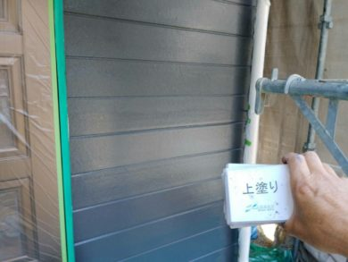 奈良葛城市O様 外壁塗装工事 外壁塗装 上塗り