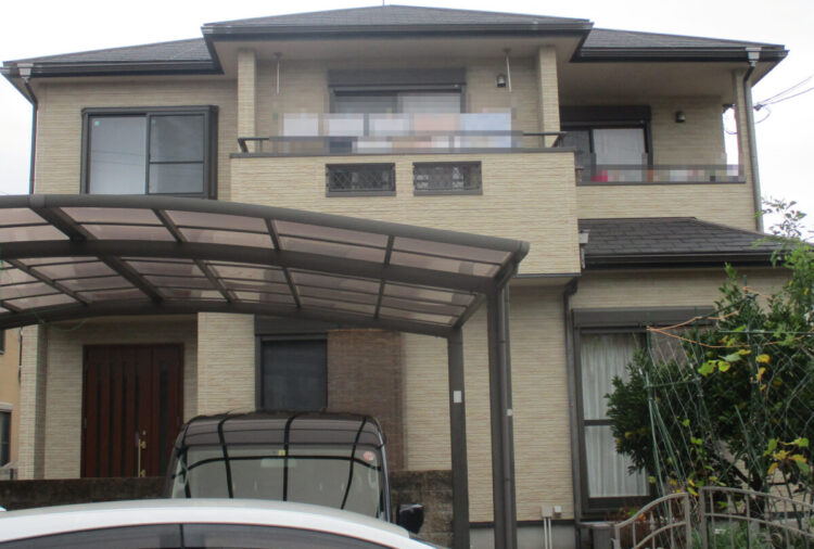 奈良北葛城郡広陵町M様邸 外壁塗装・屋根塗装・防水工事 施工前の写真