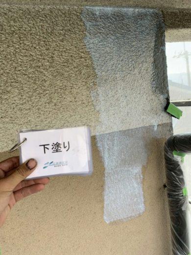 奈良大和高田市U様 外壁塗装工事  下塗り