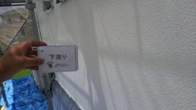奈良生駒郡三郷町F様邸 外壁塗装・屋根塗装 外壁塗装 下塗り