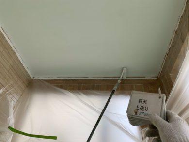 奈良大和郡山市N様邸 外壁塗装・ベランダ防水工事 軒天上塗り