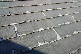 奈良の香芝市の株式会社ヨネヤの外壁塗装と屋根塗装のスレート屋根の塗装剥がれの画像