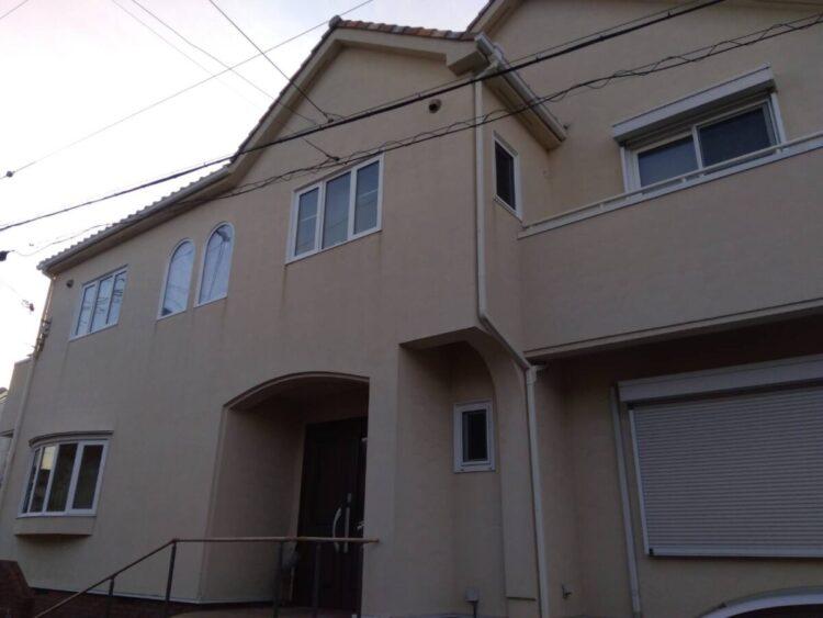奈良香芝市Y様邸 外壁塗装・防水工事 施工前の写真