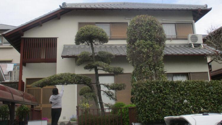 奈良北葛城郡王寺町M様邸 外壁塗装工事 施工前の写真