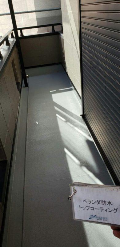 奈良香芝市Y様 外壁塗装・屋根塗装・防水工事 ベランダ防水トップコーティング