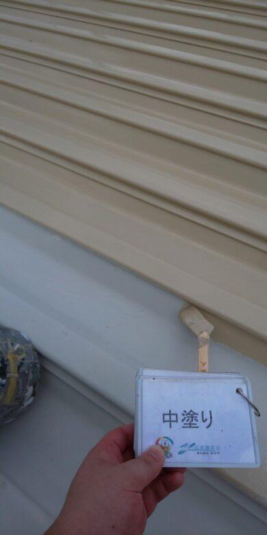 奈良香芝市A様 外壁塗装・屋根塗装工事 屋根中塗り