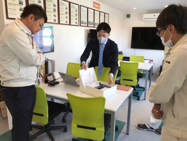 奈良の香芝市の株式会社ヨネヤの外壁塗装と屋根塗装のドローン勉強会③