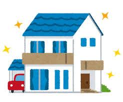 奈良の香芝市の株式会社ヨネヤの外壁塗装と屋根塗装の新築の家のイラスト