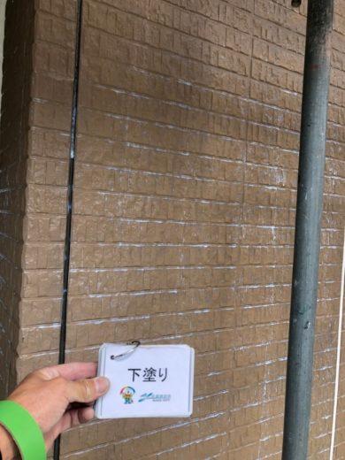 奈良北葛城郡上牧町N様 外壁塗装工事 外壁塗装 下塗り