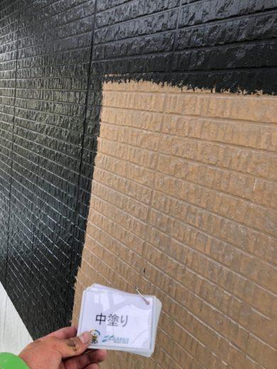 奈良北葛城郡上牧町N様 外壁塗装工事 外壁塗装 中塗り