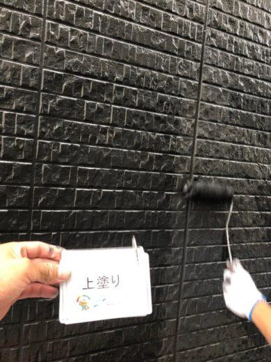 奈良北葛城郡上牧町N様 外壁塗装工事 外壁塗装 上塗り