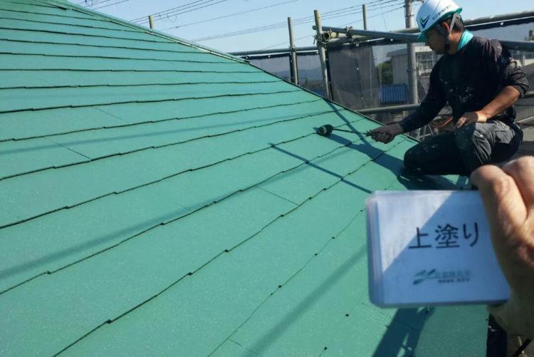 屋根塗装 クールタイト 施工後の写真