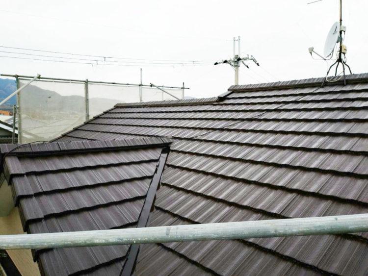 屋根塗装 マイルドフッ素 施工後の写真