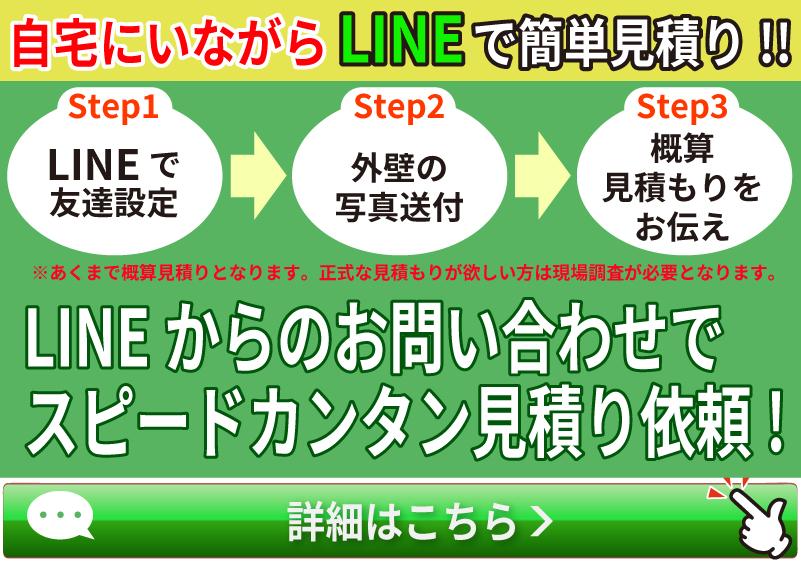 自宅にいながらLINEで簡単見積もり!LINEからのお問い合わせでスピードカンタン見積り依頼!