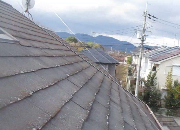 奈良の香芝市の株式会社ヨネヤの外壁塗装と屋根塗装の滑落